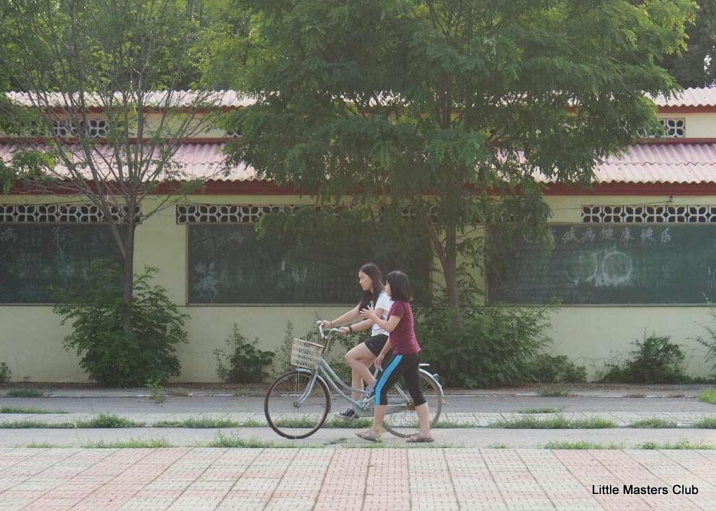 girls-biking