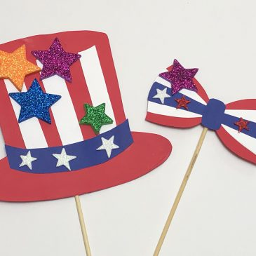 2019 Independence Day Photo Booth Props Craft美国独立日照片道具手工