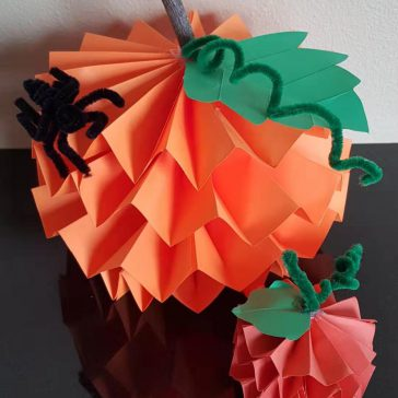 Paper Pumpkin Craft Reflection (Author: Vanessa Ping)