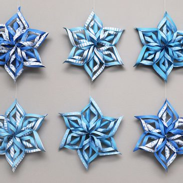 2019 3D Paper Snowflake Craft