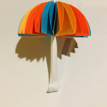 Paper Umbrella Reflection (By Esther Fang)