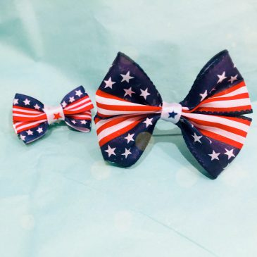2020 Independence Day Hair Bow Ties